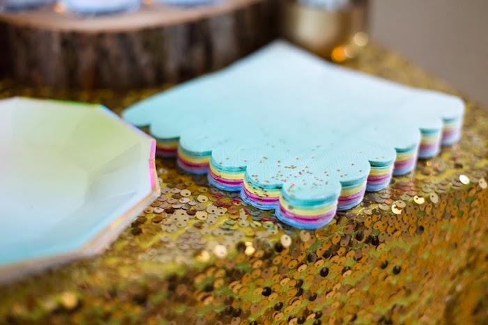 Plates + Napkins from a Rainbows & Unicorns Birthday Party via Kara's Party Ideas KarasPartyIdeas.com (19)