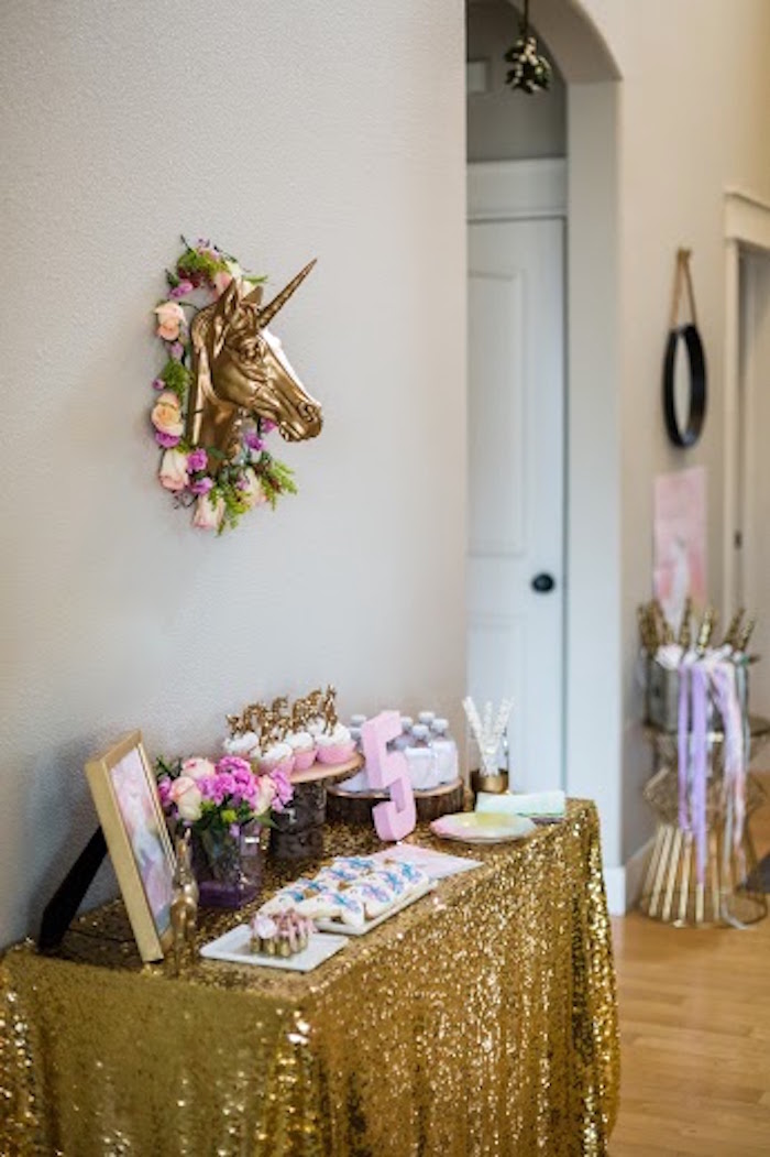 Main Table from a Rainbows & Unicorns Birthday Party via Kara's Party Ideas KarasPartyIdeas.com (15)