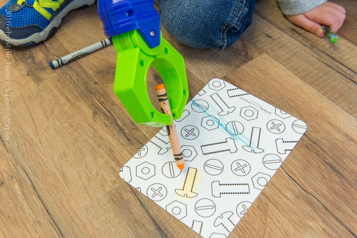 Coloring Activity from a Robot Birthday Party via Kara's Party Ideas | KarasPartyIdeas.com | The Place for All Things Party! (6)
