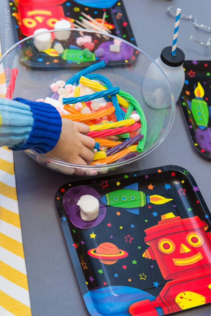 Robot Building Activity from a Robot Birthday Party via Kara's Party Ideas | KarasPartyIdeas.com | The Place for All Things Party! (3)