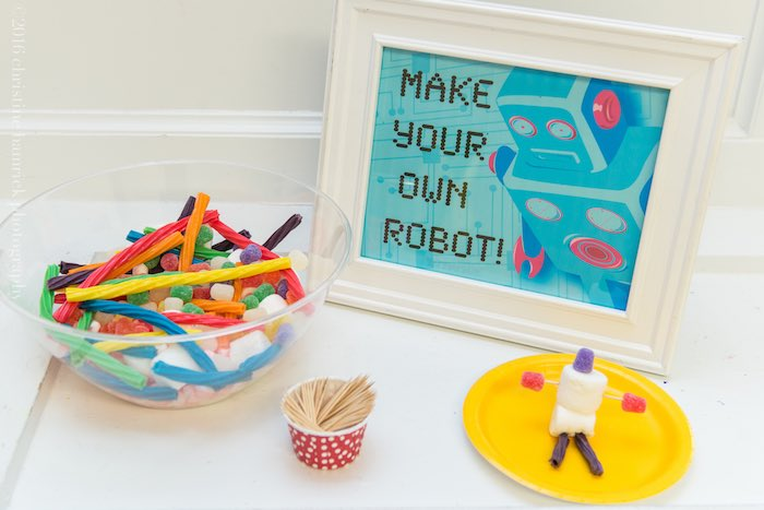Make Your Own Robot Activity from a Robot Birthday Party via Kara's Party Ideas | KarasPartyIdeas.com | The Place for All Things Party! (22)