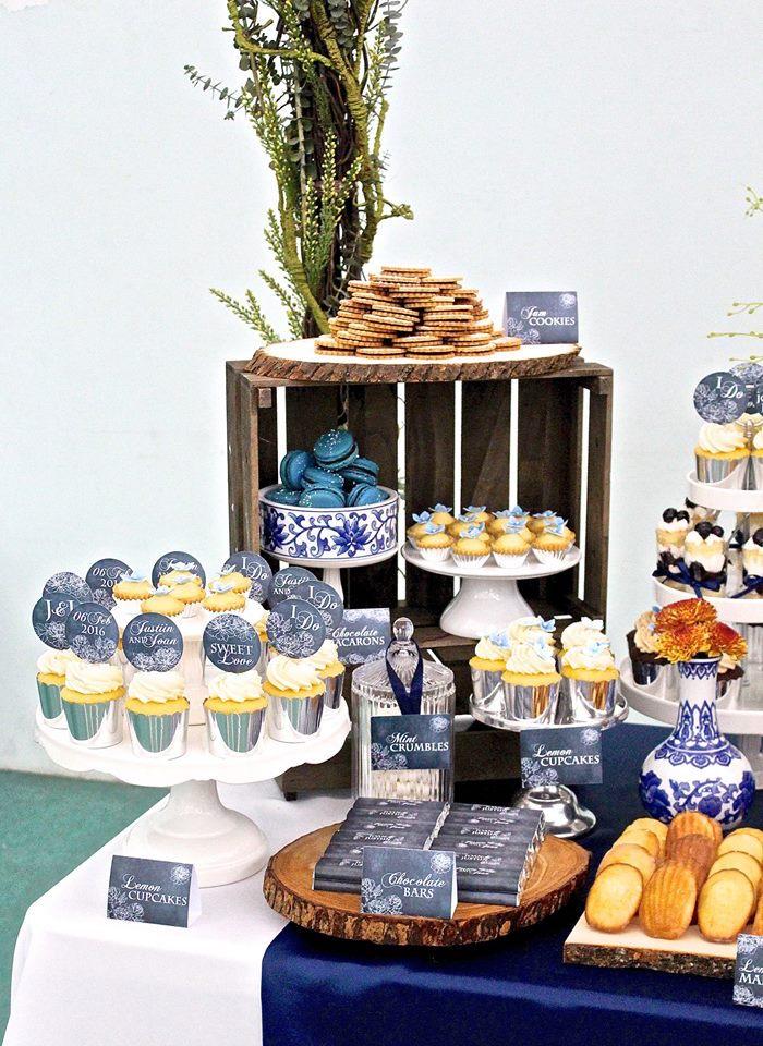 Kara S Party Ideas Rustic Asian Wedding Dessert Table