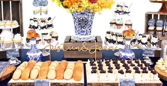 dessert table details from a rustic asian wedding dessert table via karas party ideas karaspartyideas