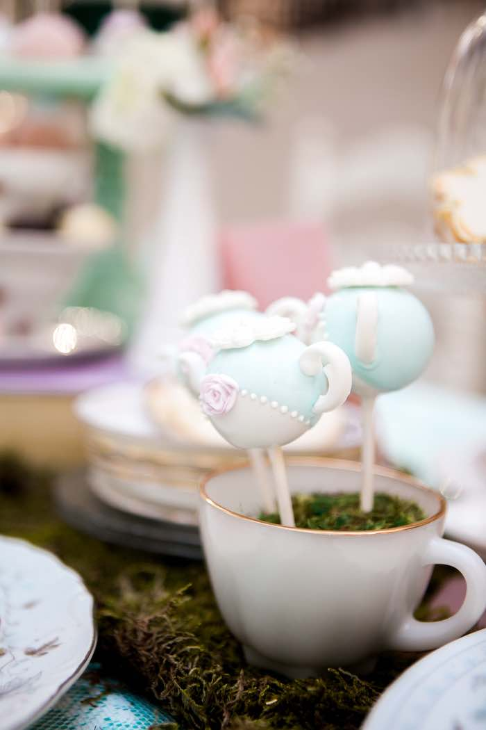 Tea Kettle Cake Pops from a Shabby