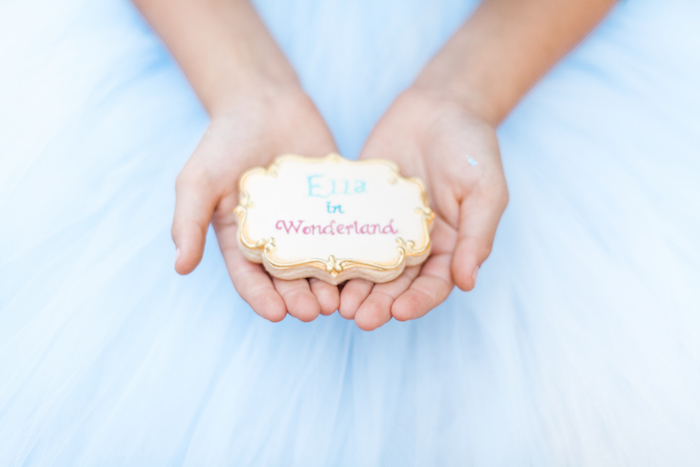 Cookie from a Shabby Chic Alice In Wonderland Birthday Party via Kara's Party Ideas KarasPartyIdeas.com (61)