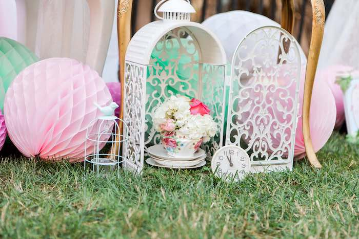 Decor from a Shabby Chic Alice In Wonderland Birthday Party via Kara's Party Ideas KarasPartyIdeas.com (21)