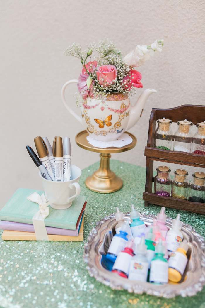 Cup Decorating Supplies from a Shabby Chic