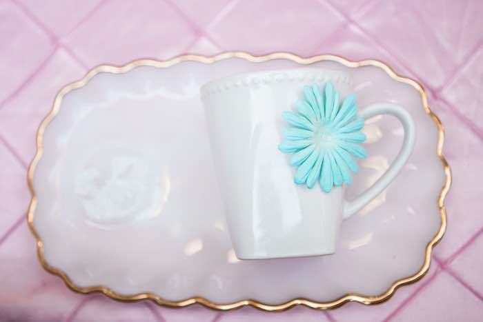 Cup for a cup decorating activity from a Shabby Chic Alice In Wonderland Birthday Party via Kara's Party Ideas KarasPartyIdeas.com (13)