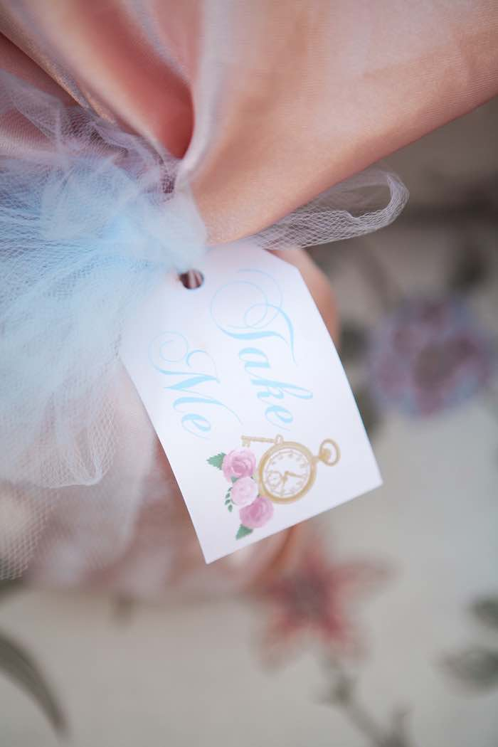 Favor Tag from a Shabby Chic Alice In Wonderland Birthday Party via Kara's Party Ideas KarasPartyIdeas.com (9)