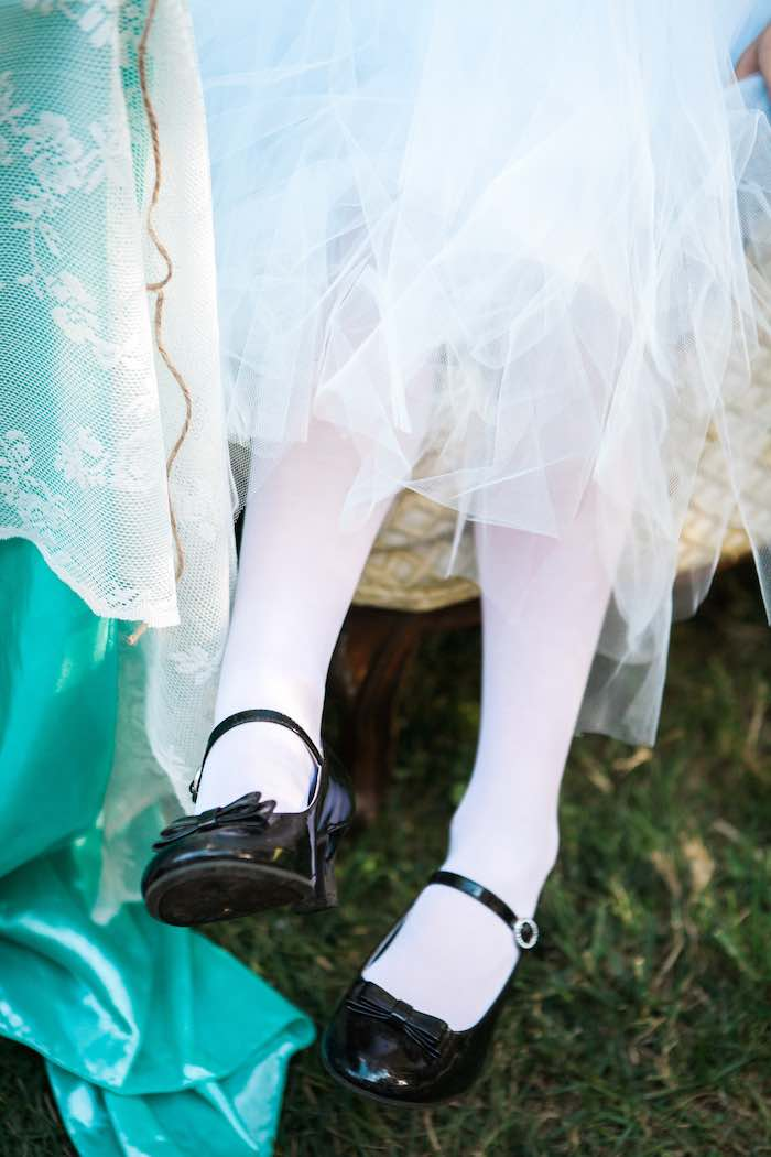 Little Feet from a Shabby Chic Alice In Wonderland Birthday Party via Kara's Party Ideas KarasPartyIdeas.com (5)