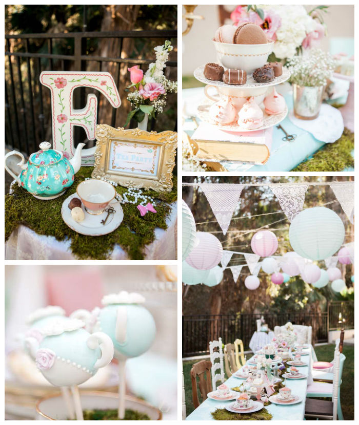 Shabby Chic Alice In Wonderland Birthday Party via Kara's Party Ideas KarasPartyIdeas.com (2)