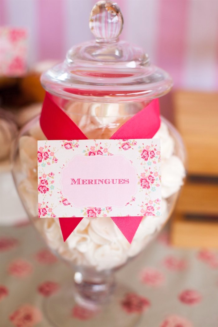Meringues from a Shabby Chic Baking Themed Birthday Party via Kara's Party Ideas KarasPartyIdeas.com (9)