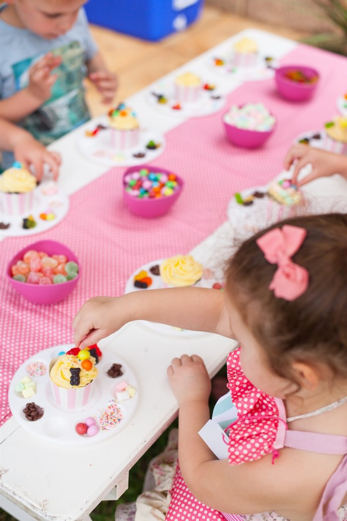 Cupcake Decorating Ideas For A Girl : Kara s Party Ideas Shabby Chic Baking Themed Birthday Party