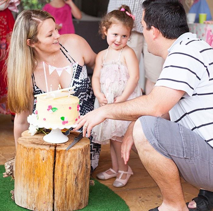 Birthday Girl from a Shabby Chic Baking Themed Birthday Party via Kara's Party Ideas KarasPartyIdeas.com (3)