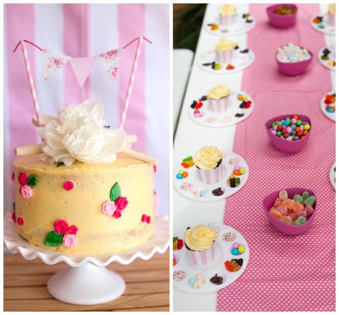 Shabby Chic Baking Themed Birthday Party via Kara's Party Ideas KarasPartyIdeas.com (1)