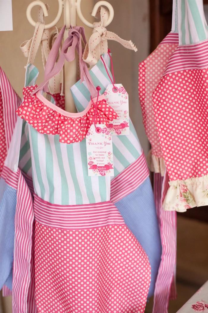 Apron Favors from a Shabby Chic Baking Themed Birthday Party via Kara's Party Ideas KarasPartyIdeas.com (17)