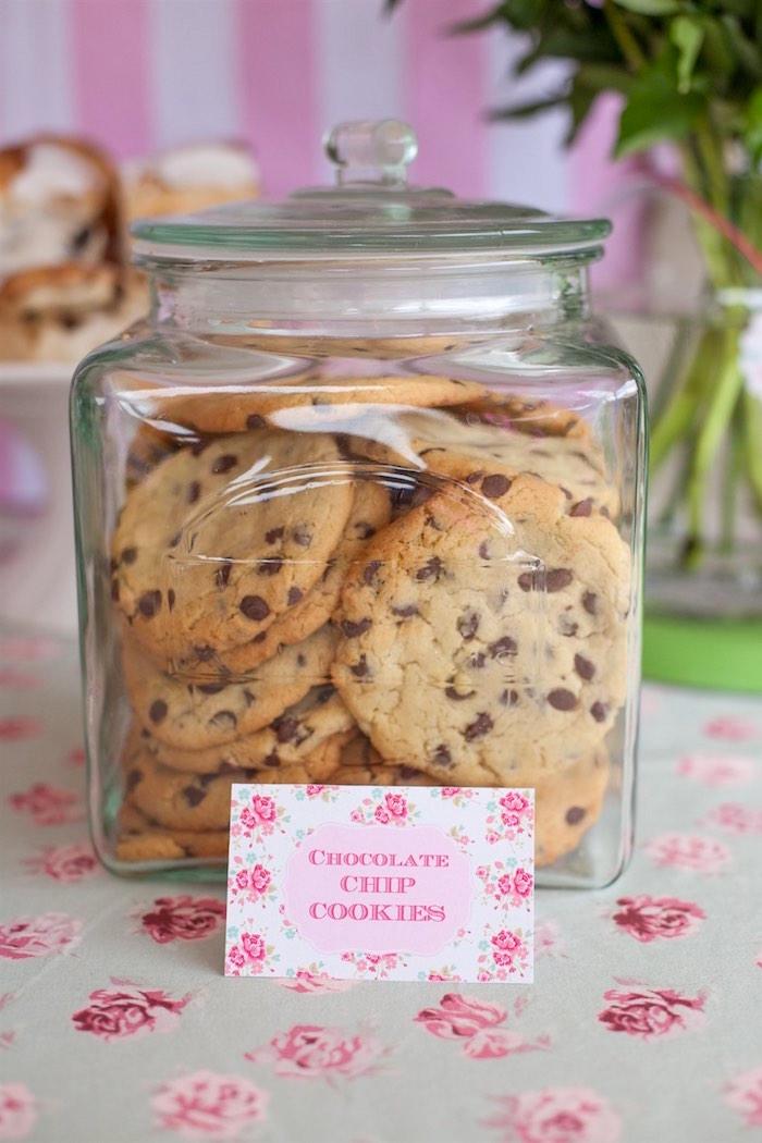 Cookies from a Shabby Chic Baking Themed Birthday Party via Kara's Party Ideas KarasPartyIdeas.com (16)