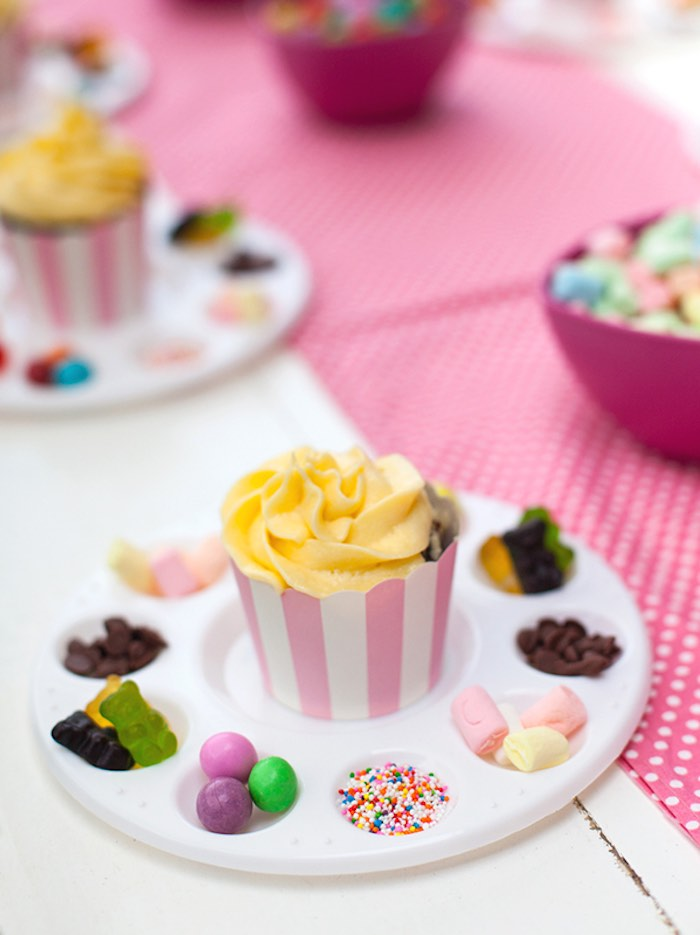 Cupcake Decorating Ideas For Birthday Party : Kara s Party Ideas Shabby Chic Baking Themed Birthday Party