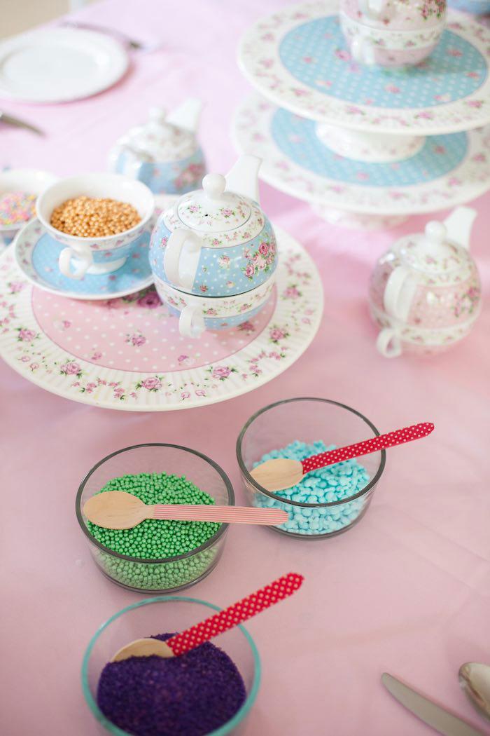 Cupcake Decorating Supplies from a Sleepover Birthday Party via Kara's Party Ideas | KarasPartyIdeas.com (8)