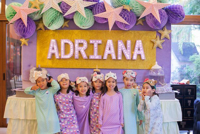 Girls + Party Table from a Sleepover Birthday Party via Kara's Party Ideas | KarasPartyIdeas.com (4)
