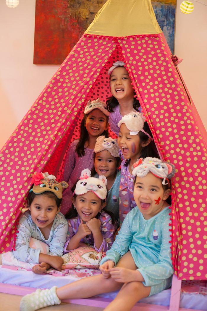 Party Girls from a Sleepover Birthday Party via Kara's Party Ideas | KarasPartyIdeas.com (2)