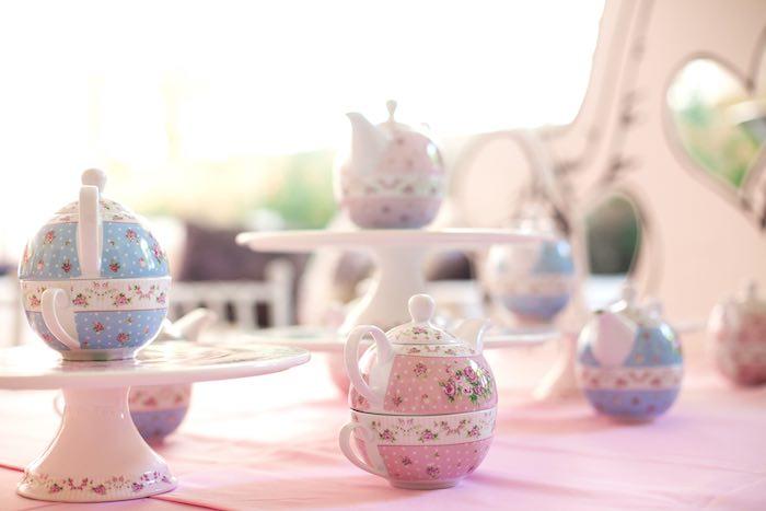 Tea Set from a Sleepover Birthday Party via Kara's Party Ideas | KarasPartyIdeas.com (18)