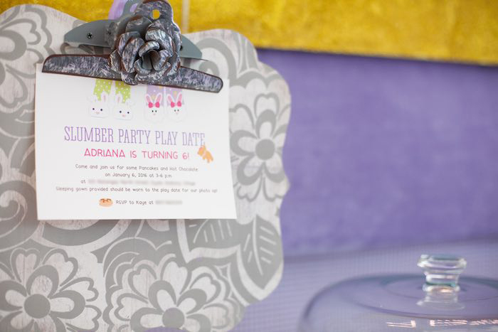 Invitation from a Sleepover Birthday Party via Kara's Party Ideas | KarasPartyIdeas.com (17)