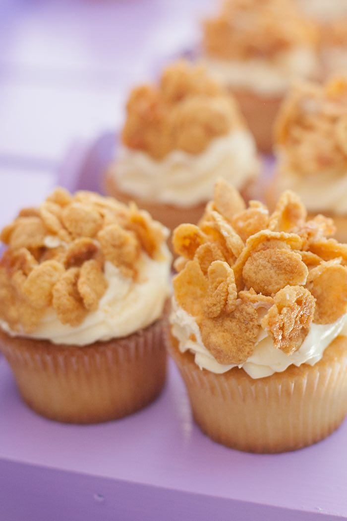 Cupcakes from a Sleepover Birthday Party via Kara's Party Ideas | KarasPartyIdeas.com (16)