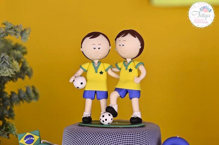Soccer Player Cake Topper from a Soccer Themed Birthday Party via Kara's Party Ideas | KarasPartyIdeas.com | The Place for All Things Party! (14)
