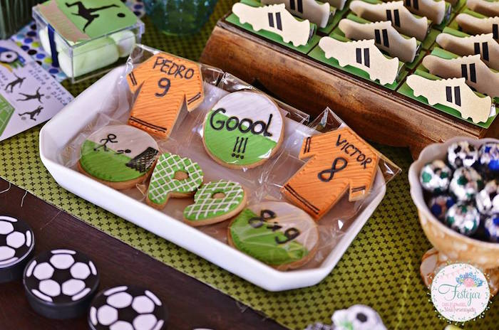 Cookies from a Futbol Birthday Party via Kara's Party Ideas | KarasPartyIdeas.com | The Place for All Things Party! (10)