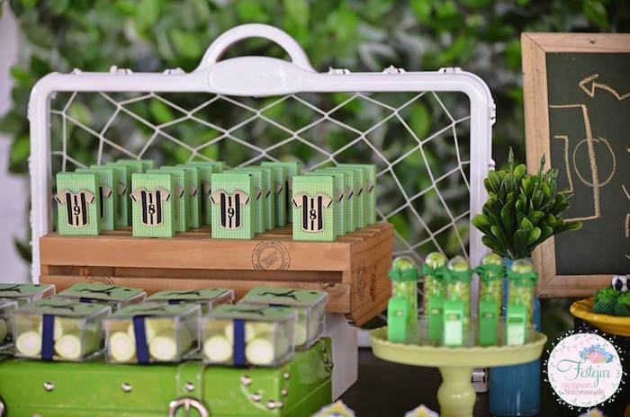 Favors + Sweets from a Soccer Themed Birthday Party via Kara's Party Ideas | KarasPartyIdeas.com | The Place for All Things Party! (7)