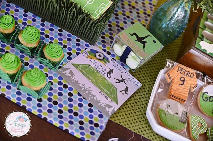 Invitation + Sweets from a Soccer Themed Birthday Party via Kara's Party Ideas | KarasPartyIdeas.com | The Place for All Things Party! (25)