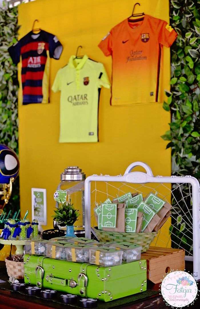 Dessert Table from a Soccer Themed Birthday Party via Kara's Party Ideas | KarasPartyIdeas.com | The Place for All Things Party! (6)