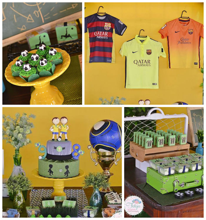 Futbol Birthday Party via Kara's Party Ideas | KarasPartyIdeas.com | The Place for All Things Party! (1)