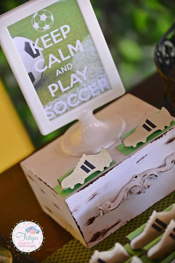 Sign from a Soccer Themed Birthday Party via Kara's Party Ideas | KarasPartyIdeas.com | The Place for All Things Party! (23)
