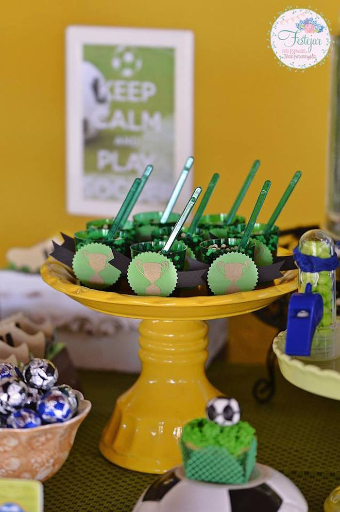 Trophy Dessert Cups from a Soccer Themed Birthday Party via Kara's Party Ideas | KarasPartyIdeas.com | The Place for All Things Party! (22)