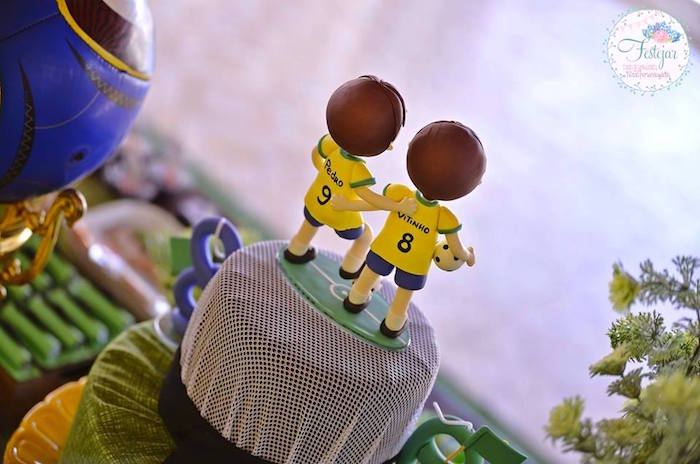 Back of Cake from a Soccer Themed Birthday Party via Kara's Party Ideas | KarasPartyIdeas.com | The Place for All Things Party! (21)