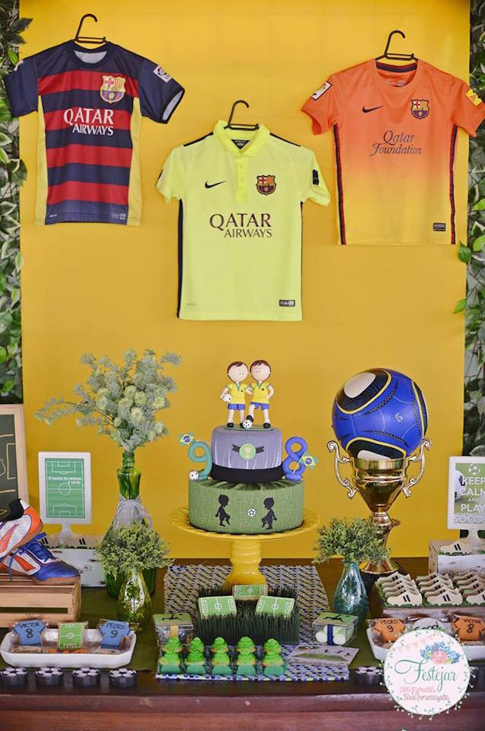 Dessert Table from a Futbol Birthday Party via Kara's Party Ideas | KarasPartyIdeas.com | The Place for All Things Party! (18)