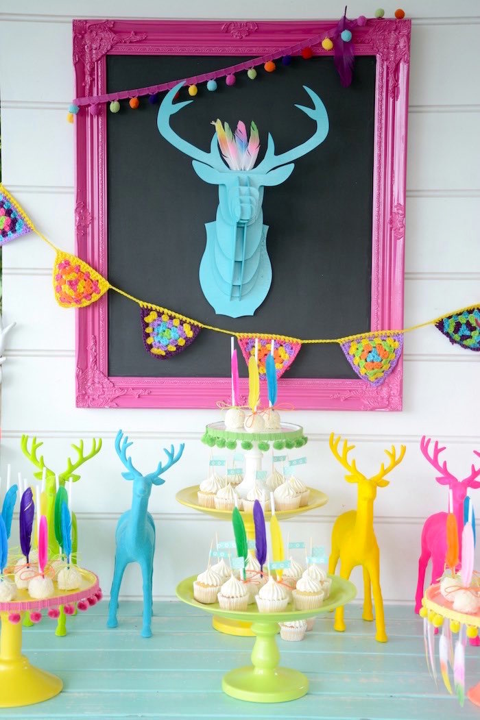 Sweet Table Sweets + Decor from a Summer Boho Birthday Party via Kara's Party Ideas KarasPartyIdeas.com (17)