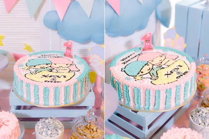 Great Cake from a Sweet Dreams Little Twin Star Inspired Birthday Party via Kara us Party Ideas