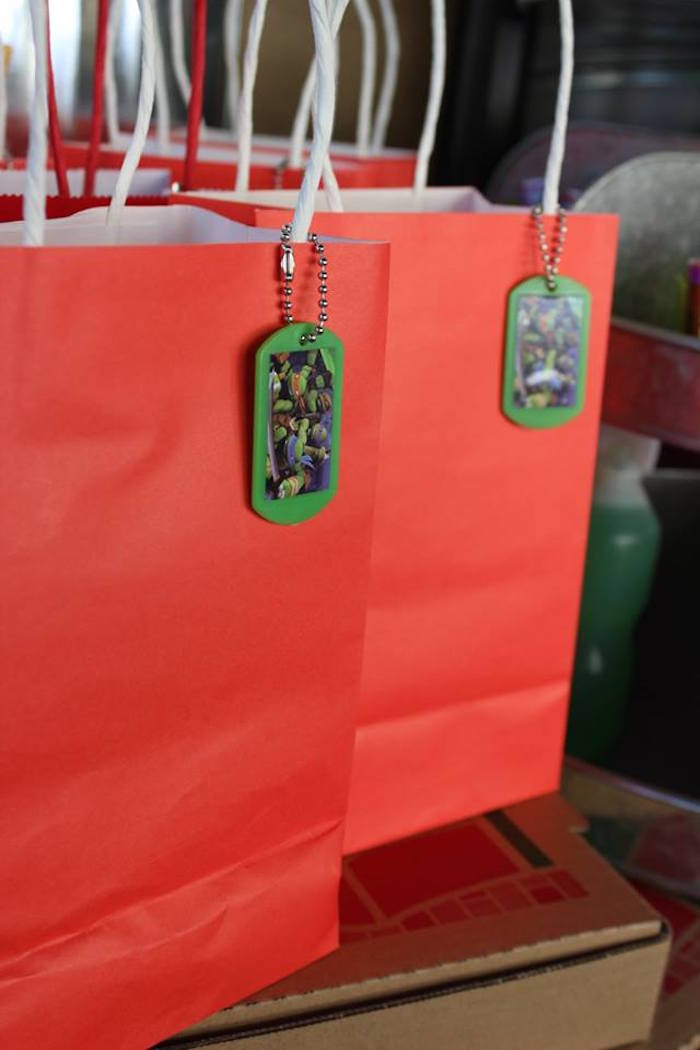 Favor Bags from a Teenage Mutant Ninja Turtles Party via Kara's Party Ideas | KarasPartyIdeas.com (20)