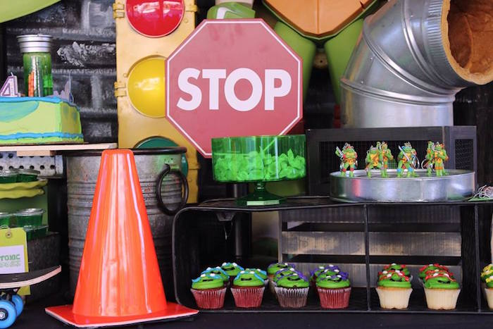 Dessert Table Detail from a Teenage Mutant Ninja Turtles Party via Kara's Party Ideas | KarasPartyIdeas.com (17)