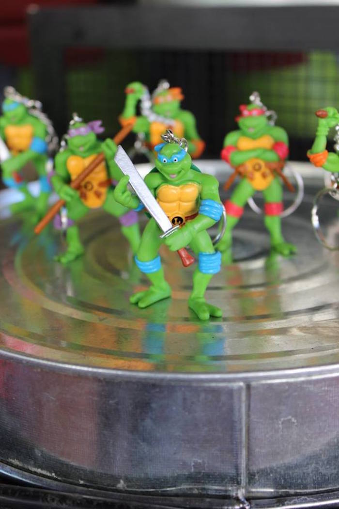 Teenage Mutant Ninja Turtle Favors from a Teenage Mutant Ninja Turtles Party via Kara's Party Ideas | KarasPartyIdeas.com (16)
