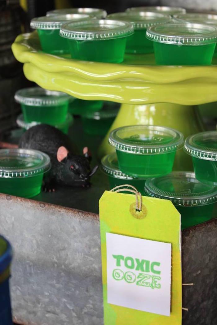 Toxic Ooze Jello Cups from a Teenage Mutant Ninja Turtles Party via Kara's Party Ideas | KarasPartyIdeas.com (8)