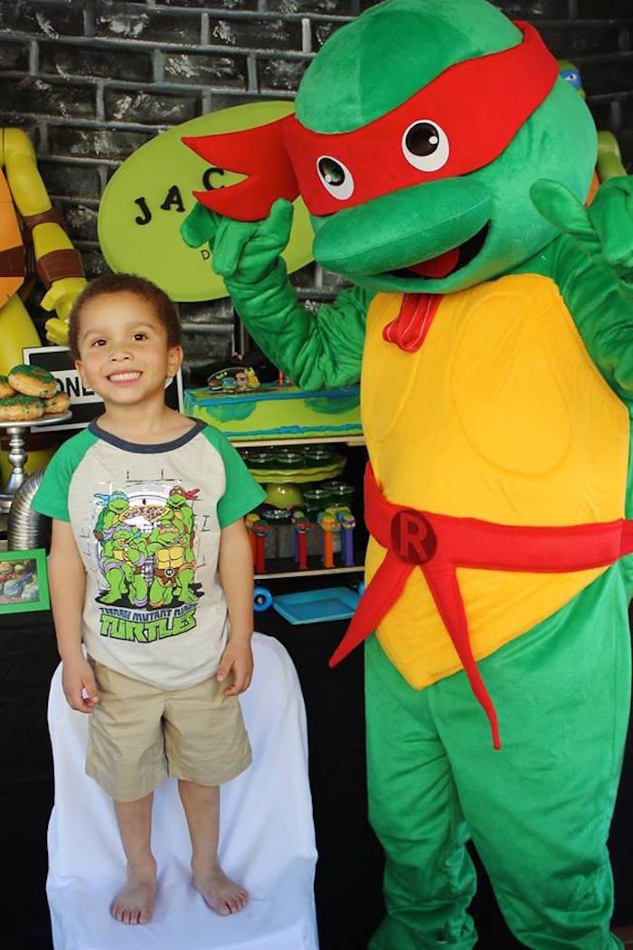 Birthday Boy + Raphael from a Teenage Mutant Ninja Turtles Party via Kara's Party Ideas | KarasPartyIdeas.com (7)