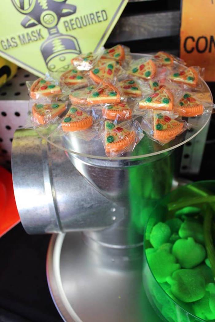 Pizza Gummies from a Teenage Mutant Ninja Turtles Party via Kara's Party Ideas | KarasPartyIdeas.com (26)