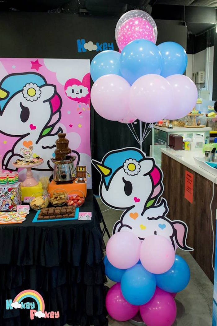 Unicorno Balloon Decor Piece from a Tokidoki Unicorno Themed Birthday Party via Kara's Party Ideas | KarasPartyIdeas.com (12)