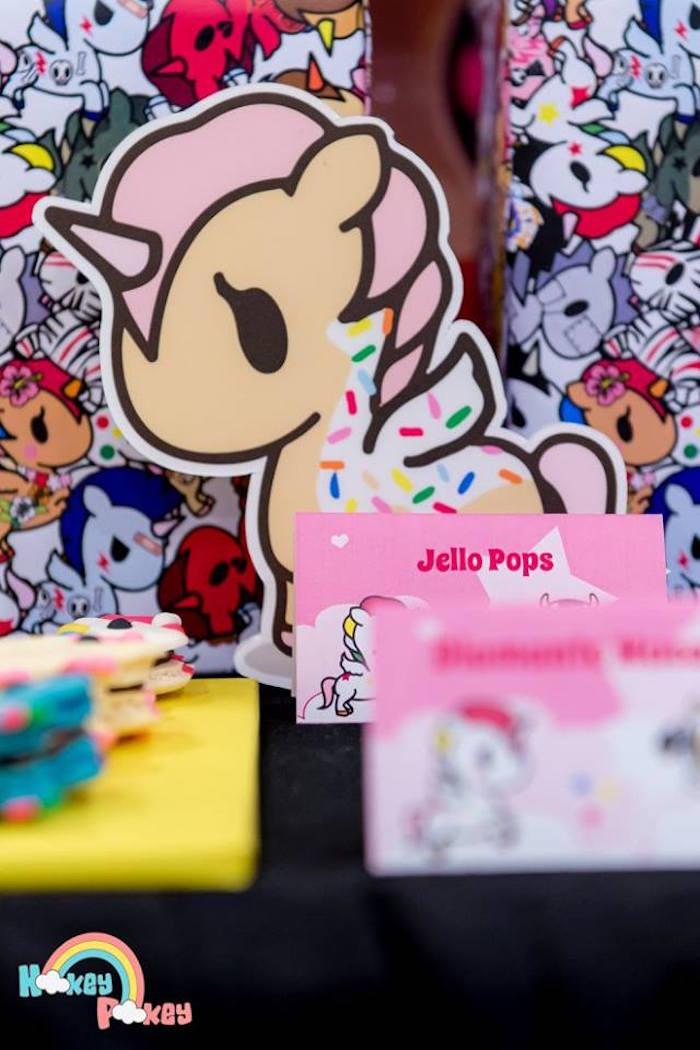 Unicorno Stationery Decoration from a Tokidoki Unicorno Themed Birthday Party via Kara's Party Ideas   KarasPartyIdeas.com (10)