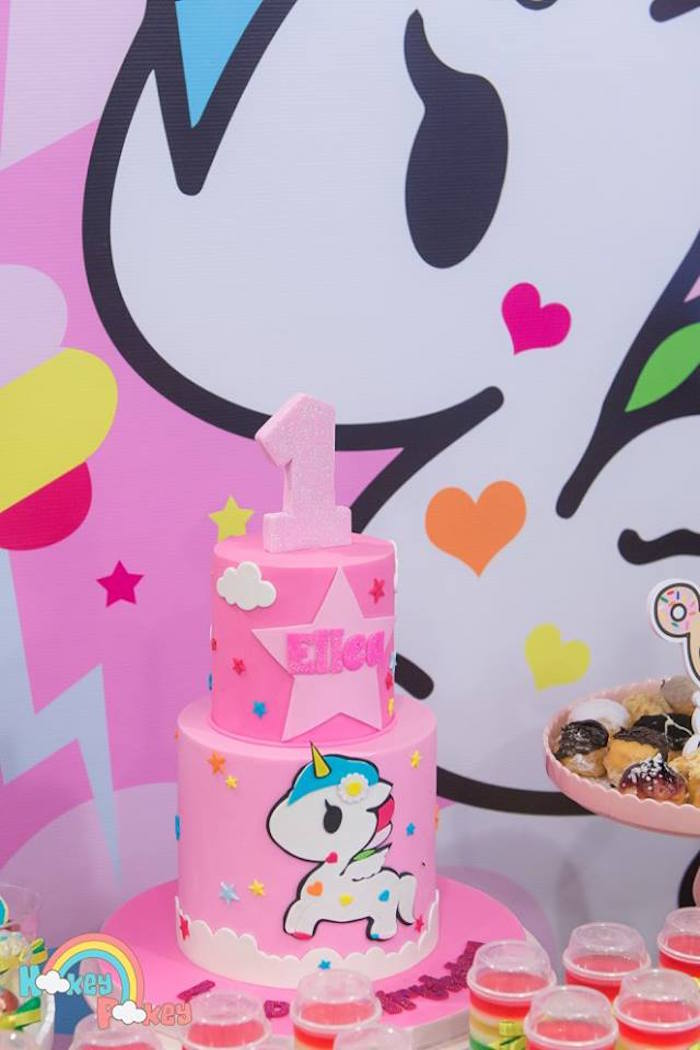 Cake from a Tokidoki Unicorno Themed Birthday Party via Kara's Party Ideas | KarasPartyIdeas.com (9)