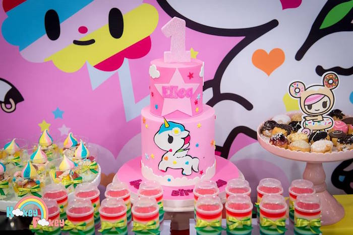 Cake + Sweets from a Tokidoki Unicorno Themed Birthday Party via Kara's Party Ideas | KarasPartyIdeas.com (21)